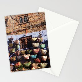 Basket Wall, Chefchaouen, Morocco Stationery Cards