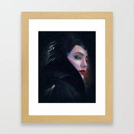 Maleficent in Oil / Sleeping Beauty Framed Art Print