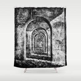 Monochrome Arches Shower Curtain