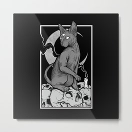 Occult Cat Metal Print