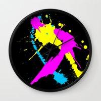 splatter Wall Clocks featuring Splatter by Spooky Dooky