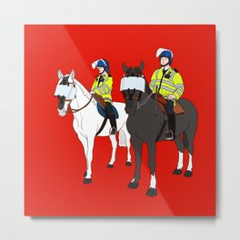 London Metropolitan Horse Cops Metal Print