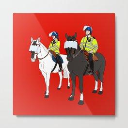 London Metropolitan Horse Cops Metal Print