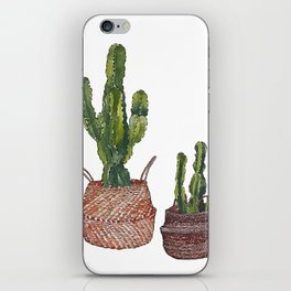 Cactus n' Baskets iPhone Skin
