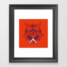 Hell Kitten Framed Art Print