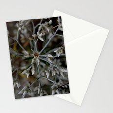 snowflake flower Stationery Cards