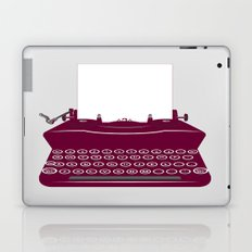 The Lonely Typewriter {dark plum} Laptop & iPad Skin
