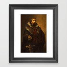 King Alistair Oil Portrait Framed Art Print