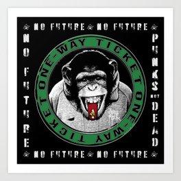 No Future One-Way Ticket 3 Art Print
