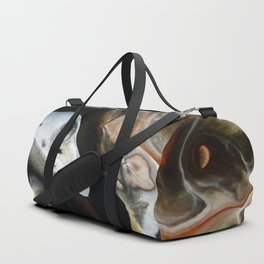 Janus - God of Beginnings, transitions, and duality - Original Abstract Painting Duffle Bag