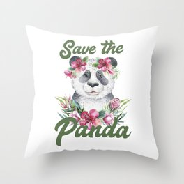 Save the Panda -#3 Throw Pillow