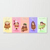 1d Canvas Prints featuring 1d Desserts!  by justsomestuff