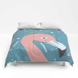 Cute Flamingo Comforters