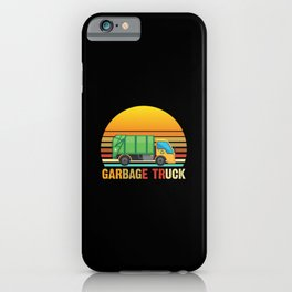 Vintage Garbage Truck Kids Trash Recycling iPhone Case