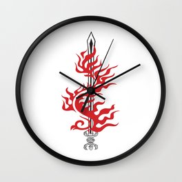 Kurikara Fire sword  Wall Clock