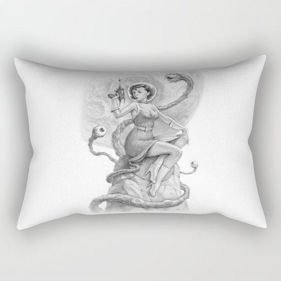 Astro Babe B&W Rectangular Pillow