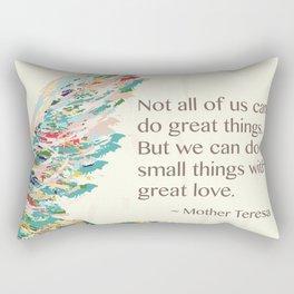 Mother Teresa Quote Rectangular Pillow