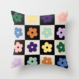 Bloom Check Multi Throw Pillow