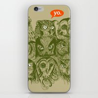 sale iPhone & iPod Skins featuring Wisdom to the Nines by Rachel Caldwell