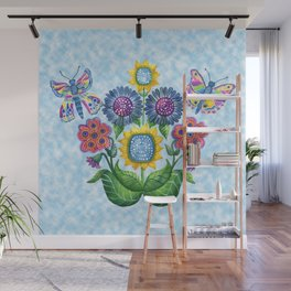 Butterfly Playground on a Summer Day Wall Mural