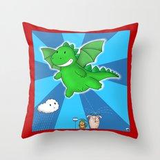 Godzilla rains first! Throw Pillow