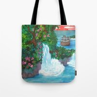 neverland Tote Bags featuring Neverland by Jadie Miller
