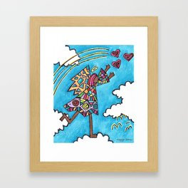 Looking for love Framed Art Print