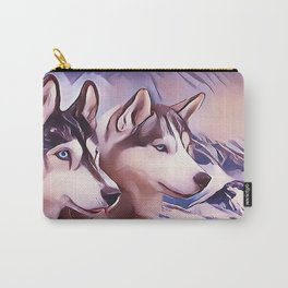 A Pair of Siberian Huskys Carry-All Pouch