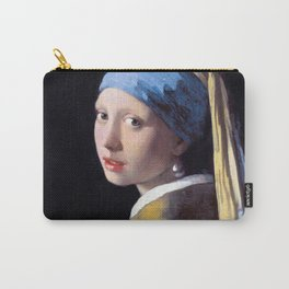 Girl with a Pearl Earring by Johannes Vermeer (c. 1665) Carry-All Pouch