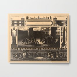 Iconographic Encyclopedia of Science, Literature and Art (1851) - Roman Chariot Racing Metal Print