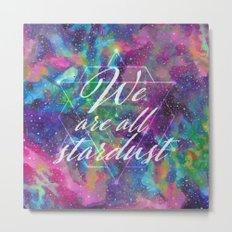 We Are All Stardust Watercolor Sacred Geometry Metal Print