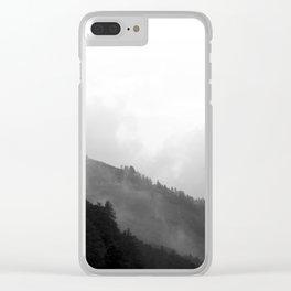 Foggy Mountain Clear iPhone Case