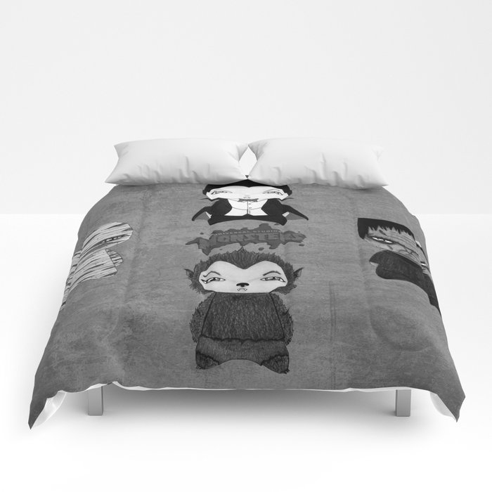 A Boy - Universal Monsters Black & White édition Comforters