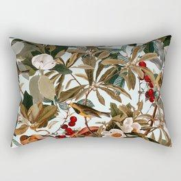 Floral and Birds XXVII Rectangular Pillow