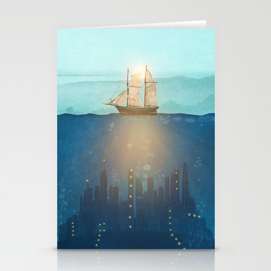 The Underwater City Stationery Cards