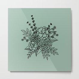 Floral Bunch Metal Print
