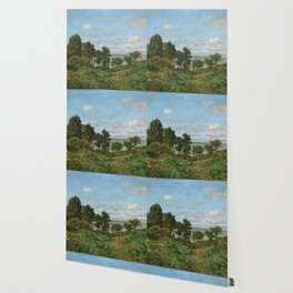 Claude Monet - Coastal landscape Wallpaper