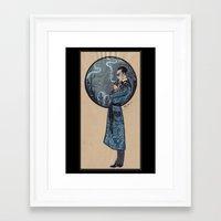 sherlock holmes Framed Art Prints featuring Sherlock Holmes by Fyodor Pavlov