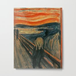 The Scream - Edvard Munch Metal Print