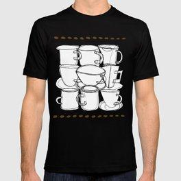Coffee Beans and Mugs T-shirt