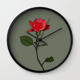 Libra Rose Wall Clock