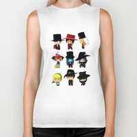 anime Biker Tanks featuring Anime Hatters by artwaste