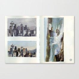 Seattle and Niagara Falls Canvas Print