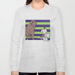 """Jurassic Park """"Died on the Shitter"""" Long Sleeve T-shirt"""