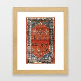 Bakhshaish Azerbaijan Northwest Persian Carpet Print Framed Art Print