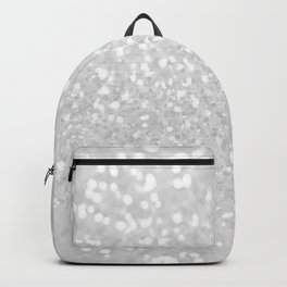 Chic elegant glamour white faux glitter Backpack