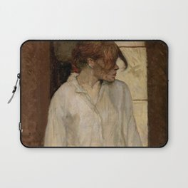 "Henri de Toulouse-Lautrec ""At Montrouge ( Rosa la Rouge)"" Laptop Sleeve"