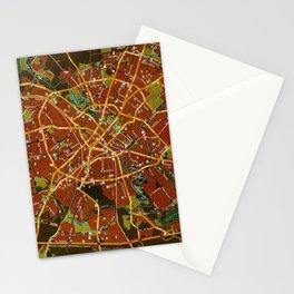 Minsk colorful map Stationery Cards