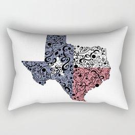 Texas - Hand Sketched Doodle Art Rectangular Pillow