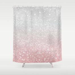 Blush Gray Princess Glitter #1 (Faux Glitter - Photography) #shiny #decor #art #society6 Shower Curtain